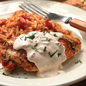 Grilled Chicken in a Spicy Cream Sauce