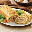 Baked Ham and Cheese Omelet Roll