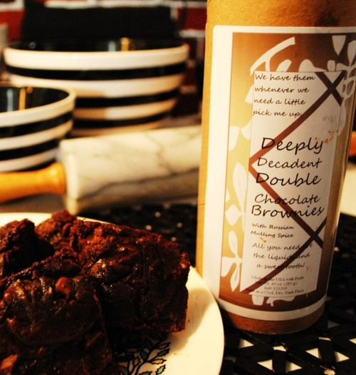 Gluten free double chocolate brownie mix