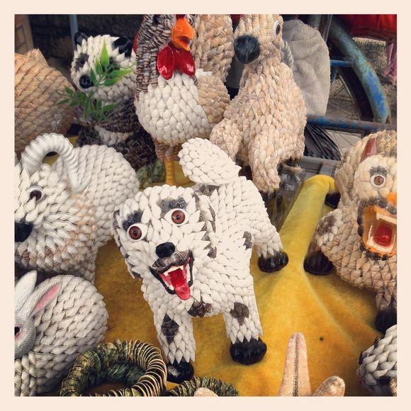 In China-Beach souvenirs, shell art