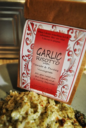 Garlic rissotto