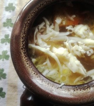 Cheese topped onion soup
