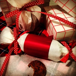 Gingersnaps packaged for gift giving