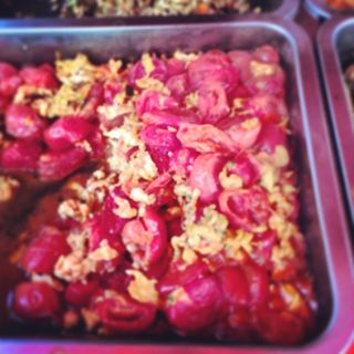 Scrambled #eggs and tomatoes came from #china