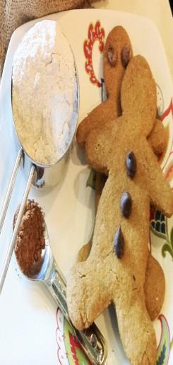 creative christmas cookies, gluten free gingerbread