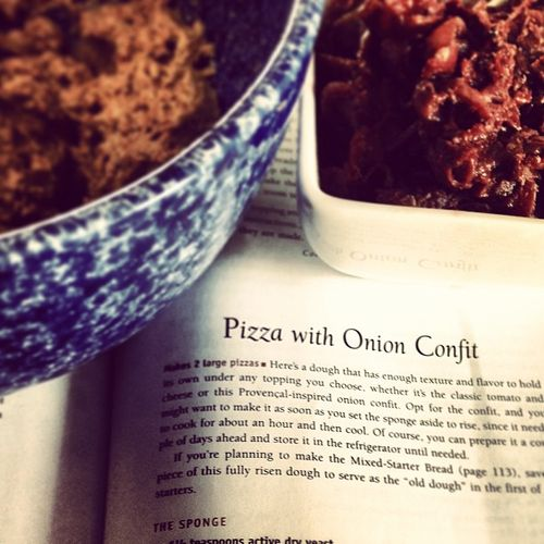 TWD: Pizza with onion confit (and a spelt crust)
