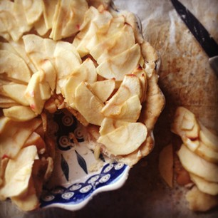 TWD: French Apple Tart, gluten and dairy free options