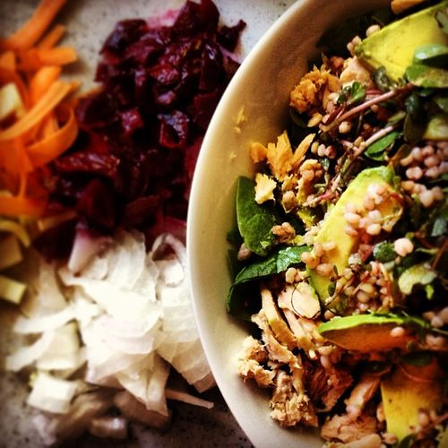 Ffwd: Wheat berry and tuna salad without the wheat