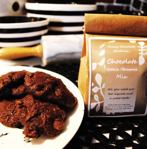Chocolate brownie & cookie mix