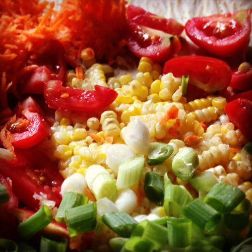 Our take on Red Fire Farm's Fresh Tomato-Corn Salsa