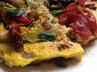 scrmbled eggs with tomatoes