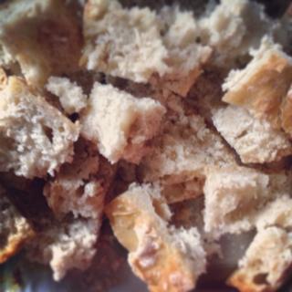 Croutons for Panzanella - Italian bread salad