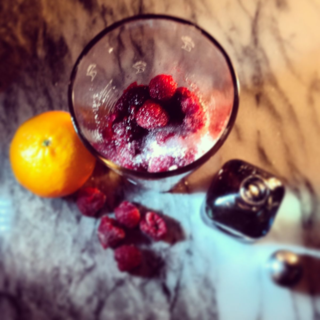 Spiked Raspberry Mimosa with Casa Noble Crystal