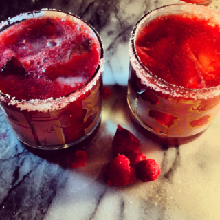 Spiked Raspberry Mimosa