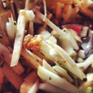 easy Apple and celery root slaw