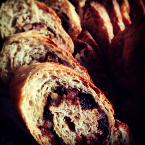 Sliced Cherry Pecan Bread