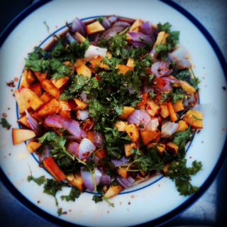 peach salsa for grillign